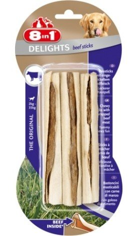 8IN1 Pamlsek Beef Delights Bone Sticks 3ks
