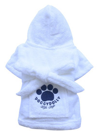 DOGGY DOLLY župan White XXS 13-15 cm/26-28 cm