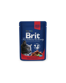 BRIT Premium Cat Adult Beef Stew & Peas 100 g