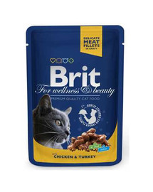 BRIT Premium Cat Pouches with Chicken & Turkey 100 g
