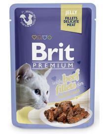 BRIT Premium Cat  Fillets in Jelly Beef 85g