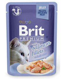 BRIT Premium Cat  Fillets in Jelly Salmon 85g