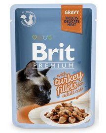 BRIT Premium Cat Fillets in Gravy Turkey 85g