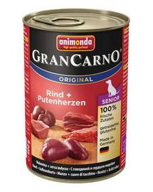 ANIMONDA Gran Carno Senior Kuře & krůtí srdce 400 g