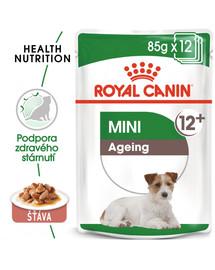 ROYAL CANIN Mini ageing 12+ 12x85g kapsičky pro malé, starší psy
