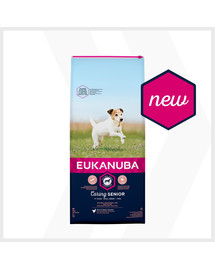 EUKANUBA Caring Senior Small Breed bohatá na čerstvé kuřecí 15kg