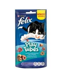 FELIX Play Tubes s příchutí pečené ryby a krevety 50 g