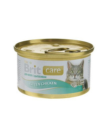 BRIT Care Cat Konzerva pro koťata Chicken 80g