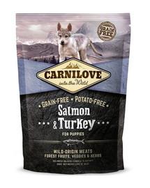 CARNILOVE Salmon & Turkey for Puppy 1,5 kg