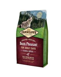 CARNILOVE Cat Hairball Control kachna/Bažant 2 kg