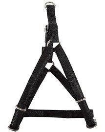 ZOLUX Postroj pro psy regulovatelný mac leather 25 mm černý