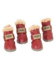 ZOLUX Boty pro psa T4 (5,5 x 4,5 cm horní výška 8 cm) červené 4 ks