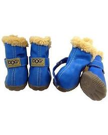 ZOLUX boty pro psa T2 (4,5x3,5cm, horní výška 7cm) stříbrné -4 ks
