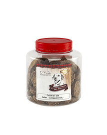 O'CANIS Kroužky, pštrosí maso s lněným semínkem 400 g. Funkční pochoutka