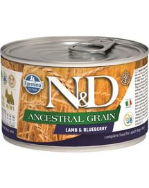 N&D Low Grain Adult Lamb & Blueberry Mini 140g
