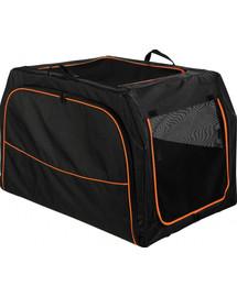 TRIXIE Transportní nylonový box Extend S-M 68x47x48 cm černo/oranžový