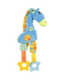 ZOLUX Hračka pes GIRAFFE COLOR plyš modrá 29cm