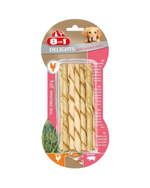 8IN1 Pamlsek Delights párek Twisted Sticks 10 ks