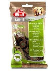 8IN1 Pamlsek Minis Beef & Apple 100 g