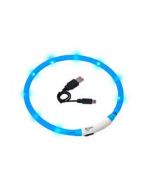 KARLIE LED světelný obojek pro psy 70 cm modrý