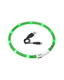 KARLIE LED světelný obojek pro psy 70 cm zelený