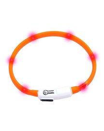 KARLIE LED světelný obojek 35 cm oranžový