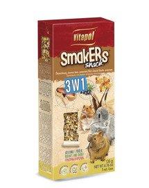VITAPOL Smakers pro hlodavce - mix 2, 3ks 120g