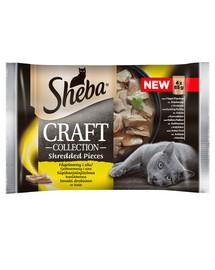 SHEBA Craft Collection Drůbeží kapsičky 4x85g - drůbeží, kuře, krůtí a kachna