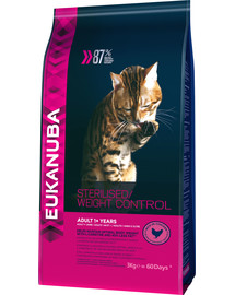 EUKANUBA Cat Veterinary Diets Dryweight Diabetic Control Adult All Breeds 3 kg