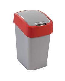 CURVER Odpadkový koš FLIP BIN 25 l stříbrný/červený