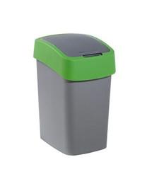CURVER Odpadkový koš FLIP BIN 25 l stříbrný/zelený