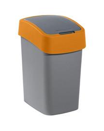 CURVER Odpadkový koš FLIP BIN 25 l šedý/oranžový