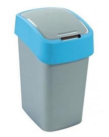 CURVER Odpadkový koš FLIP BIN 25 l  stříbrný/modrý