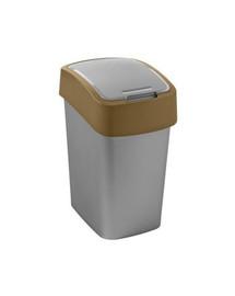 CURVER Odpadkový koš FLIP BIN 25 l stříbrný/hnědý