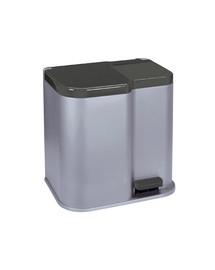 CURVER Odpadkový koš Duo stříbrný