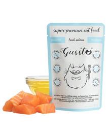 GUSSTO Cat Fresh Salmon 85g kapsička pro kočky