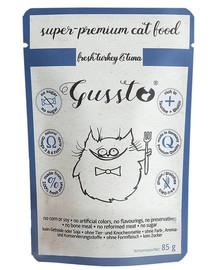 GUSSTO Cat Fresh Turkey&Tuna 85g kapsička pro kočky