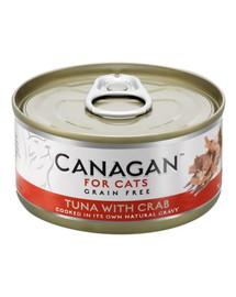 CANAGAN Cat Tuna with Craab 75 g