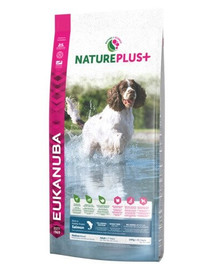 EUKANUBA Nature Plus+ Adult Medium Breed Rich in freshly frozen Salmon 2,3 kg