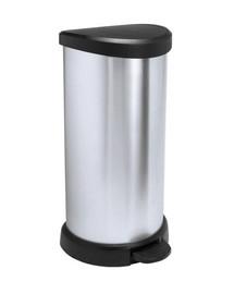 CURVER Odpadkový koš DECO BIN 40l stříbrný