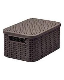 CURVER RATTAN Úložný box Style s víkem - 7 l hnědý