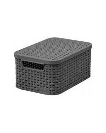 CURVER RATTAN Úložný box Style s víkem - 7 l šedý