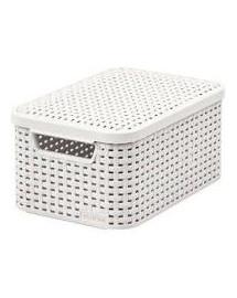 CURVER Úložný box, STYLE, krémový s víkem, velikost S