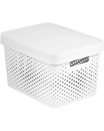 CURVER BOX INFINITY DOTS 17L bílý