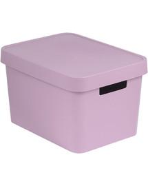 CURVER Box úložný INFINITY 36,3x27x22,2cm s víkem RŮŽ
