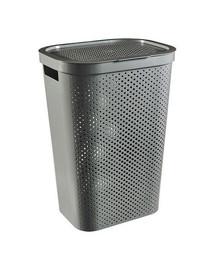 CURVER  INFINITY DOTS 59L - šedý koš na špinavé prádlo