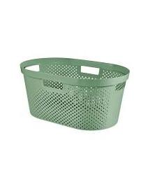 CURVER Koš na čisté prádlo INFINITY DOTS 39l zelený