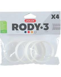 ZOLUX Komponenty Rody 3-spojovací kroužek bílý 4ks