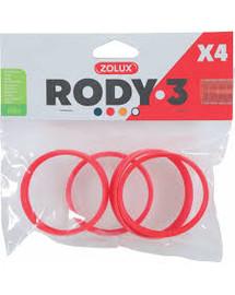 ZOLUX Komponenty Rody 3-spojovací kroužek červený 4 ks
