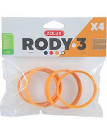 ZOLUX Komponenty Rody 3-spojovací kroužek žlutý 4ks